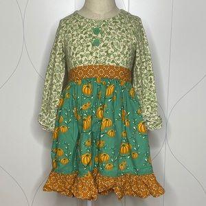 Eleanor Rose Pumpkins & Vines Rhonda LS Dress 4-5